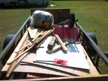 small amount of new useable lumber, wall  insulation, siding remnants, used wheel barrow in Pasadena, Texas
