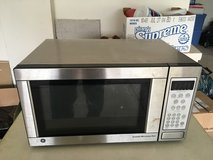 Stainless steal over the counter microwave in Chicago, Illinois
