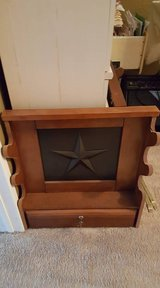 Solid rifle gun rack with locked drawer. Qty 2 in Pasadena, Texas