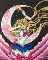 Pink Sailor Moon Painting in Oceanside, California