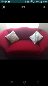 Red Velvet Couch and Love Seat in Camp Pendleton, California