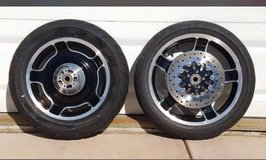 "Harley Bagger '09-'13 wheels low miles 18"" front 16"" rear in Travis AFB, California"