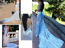 Formal Dress Silver Sequins with train in Travis AFB, California