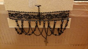 Choker necklace with cross black (orig.$18) in Aurora, Illinois