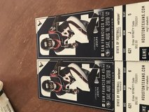 Texans vs San Francisco tickets plus parking pass in Spring, Texas