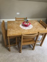 Kids Table and chair set in Naperville, Illinois