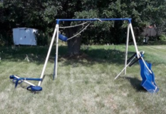 metal swing set in St. Charles, Illinois