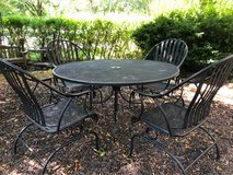 : ) LARGE BLACK WROUGHT IRON PATIO SET from Million Dollar Home !! in Naperville, Illinois