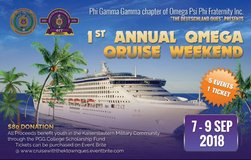 Omega Psi Phi Fraternity Inc. Annual Boat Cruise Weekend 7-9 Sep 2018 in Ramstein, Germany