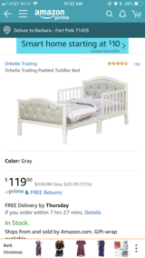 Toddler bed(still in box) in Leesville, Louisiana