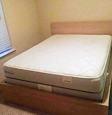 Queen Mattress Set and Frame, Like New in Pasadena, Texas