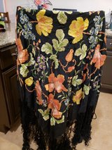 antique silk hand embroidered shawl in Fairfield, California
