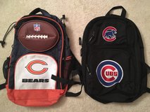 KIDS Chicago Cubs or Chicago Bears Backpacks in Lockport, Illinois
