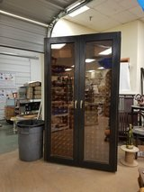 Custom Black stained wood 454 bottle double compressor wine cabinet in Westmont, Illinois