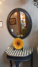 Navy Hand Painted Accent Table and Mirror in Baytown, Texas