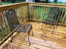 3 Iron patio chairs in Aurora, Illinois