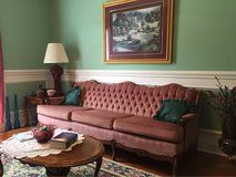 couch loveseat and wingback chair - MOVING - MUST SELL! in Macon, Georgia