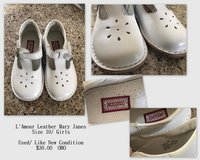 L'Amour Leather Mary Janes/ Girls Size 10 in Fort Rucker, Alabama
