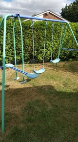 REDUCED Double Swing Set and Seesaw in Lakenheath, UK