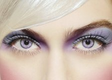 Lavender colored contact lenses in Oceanside, California