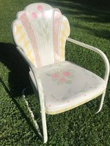 Vintage style metal chair in Naperville, Illinois
