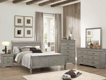 NEW QUEEN 4 PC QUEEN BED SET  FREE DELIVERY in 29 Palms, California
