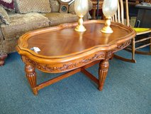 Ornate Wood Coffee Table in Bolingbrook, Illinois