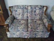 Flowered LOVESEAT w WOOD Accents in Fairfield, California