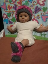 Crochet/knitted baby beanie and booties in Fort Hood, Texas
