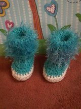 Crochet/knitted baby booties in Fort Hood, Texas