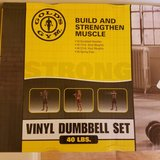 2-Golds Gym 40lb Vinyl Dumbell set + weights in Fort Knox, Kentucky