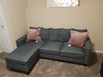 Small Gray Couch w/chase lounge in Chicago, Illinois