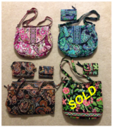 Vera Bradley Purses (4), some with wallet or cosmetic pouch, excellent in Beaufort, South Carolina