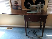 Antique sewing machine with stand in St. Charles, Illinois