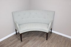 Soft green Curved sofa in EXCELLENT CONDITION in Kingwood, Texas