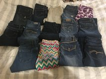 girls size 10-12 jeans in Baytown, Texas