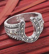 marcasite horsehoe ring - size 6 & 8 in Baytown, Texas