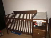 Crib with changing station convert to toddler bed Mattress included  still in plastic   200or be... in Stuttgart, GE