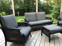 : ) All Weather Wicker & Metal Patio Furniture Set. Awesome!!! in Chicago, Illinois
