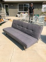 Grey fabric couch,  pull down sofa queen bed in 29 Palms, California