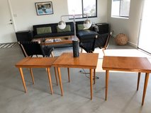3 danish styled nesting tables in 29 Palms, California