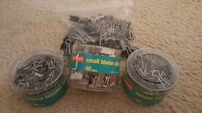 STAPLES OFFICE SUPPLIES LOT SMALL & MICRO BINDER CLIPS in Chicago, Illinois