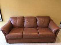 Leather couch - reduced in Tinley Park, Illinois