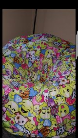 Brand New Inflattable Clear Chair with Emoji Cover in Fairfield, California