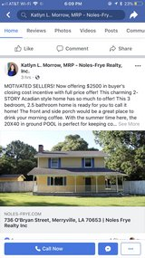 House w/ inground pool prices reduced offering $2500 closing cost incentive in Fort Polk, Louisiana