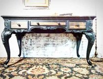 Refinished Carved Wood Desk LARGE in Chicago, Illinois