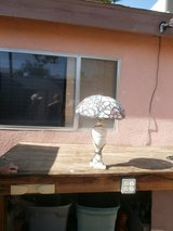 Marble Alabaster Lamp with Tiffany like shade in 29 Palms, California
