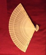 Folding pocket purse wood fan in Joliet, Illinois