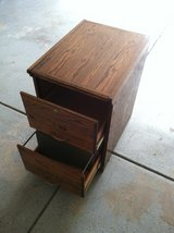 Solid Oak 2-Drawer File Cabinet. in Plainfield, Illinois