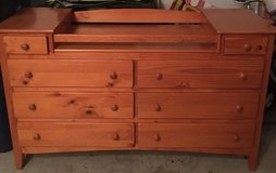 Wood dresser/changing table in Naperville, Illinois